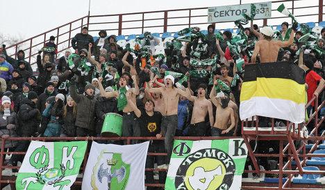 Победа «Сибири» омрачена беспорядками на стадионе