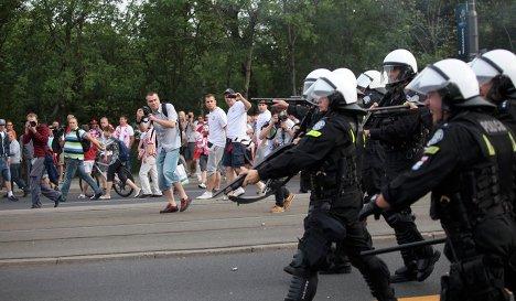 Polish riot police