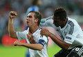 Игрок сборной Германии Филипп Лам радуется забитому голу