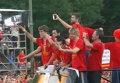 Сборная Испании застряла в пробке из десятков тысяч ликующих болельщиков