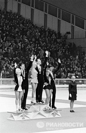 Победители в парном катании на коньках на X Белой Олимпиаде в Гренобле