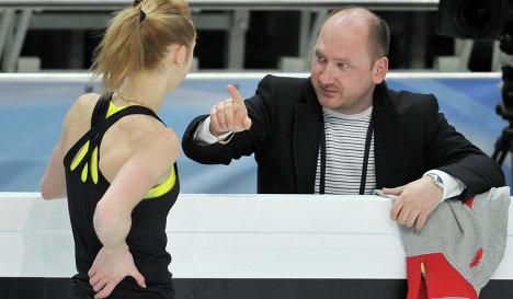Ксения Макарова и ее тренер Евгений Рукавицын