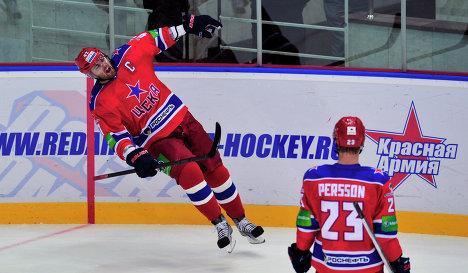 CSKA's Alexander Radulov and Niklas Persson