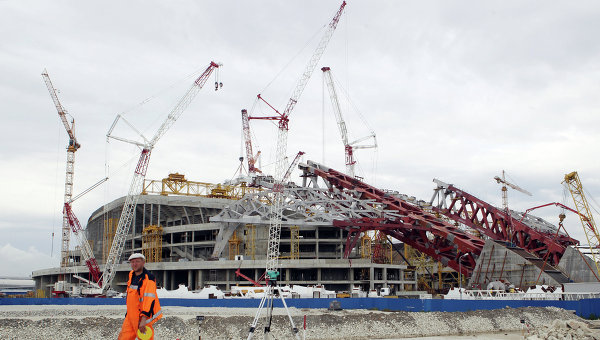 Construction of Olympic Stadium in Sochi