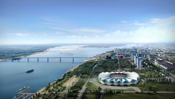Draft of Stadium in Volgograd