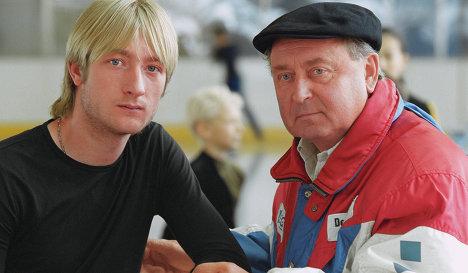 Evgeni Plushenko and Alexei Mishin