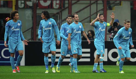 Zenit football players