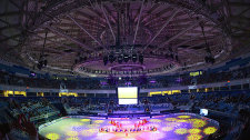 The opening ceremony of the Grand Prix Finals at the Iceberg Winter Sports Palace in Sochi.