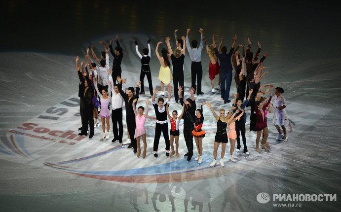 Показательные выступления в финале Гран-при по фигурному катанию в Сочи