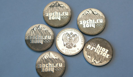 Coins dedicated to the Sochi 2014 Winter Olympics