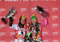 Marcel Hirscher (Austria) and Germany's Lena Duerr