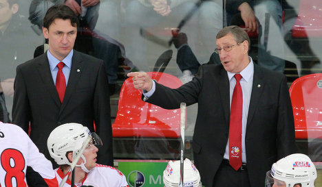 Valery Belousov and Ravil Gusmanov (left)