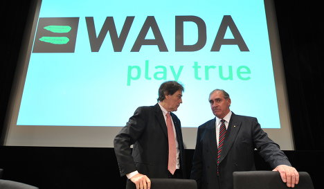 Wada president John Fahey (right)
