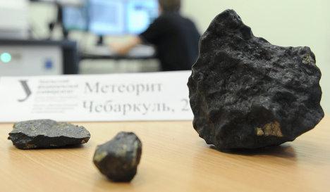 Chelyabinsk meteorite shards