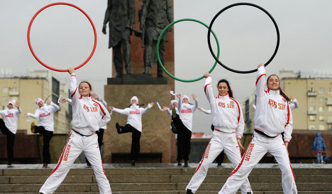 Olympic torch relay in St. Petersburg