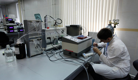 Employee in the Moscow Lab