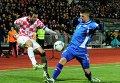 Игровой момент матча Исландия - Хорватия