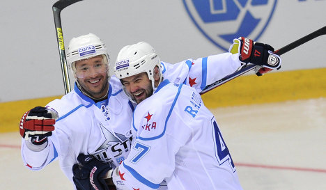 Ilya Koavalchuk (left) and Alexander Radulov