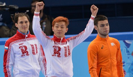 Vladimir Grigorev, Viktor Ahn and Sjinkie Knegt