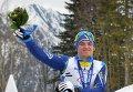 Максим Яровой (Украина), завоевавший серебряную медаль в гонке на дистанции 10 км в классе LW 10-12 (сидя)