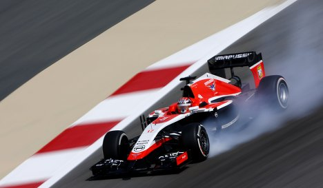 Marussia in action at the Bahrain Grand Prix 2014