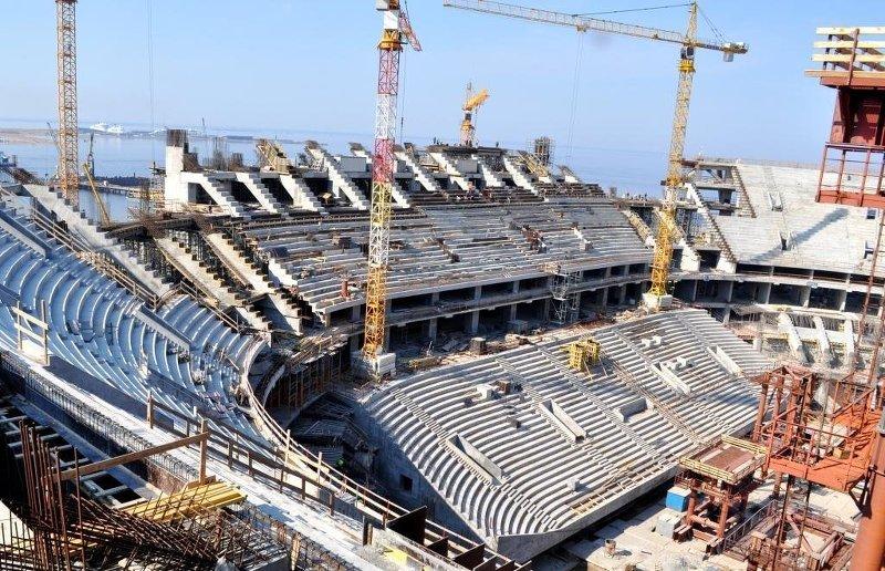 Строительство стадиона зенит арена