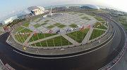 """Вид на Олимпийский парк и Автодром """"Сочи"""" в Имеретинской долине"""