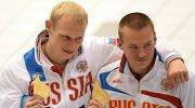 Российские прыгуны в воду Илья Захаров и Евгений Кузнецов (Россия) на чемпионате Европы по водным видам спорта в Берлине