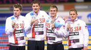 Российские спортсмены Александр Красных, Александр Сухоруков, Артем Лобузов и Дмитрий Ермаков (слева направо)