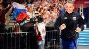 Доигровщик сборной России Алексей Спиридонов перед матчем чемпионата мира по волейболу