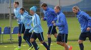 """Футболисты """"Зенита"""" на тренировке перед матчем группового этапа Лиги чемпионов."""