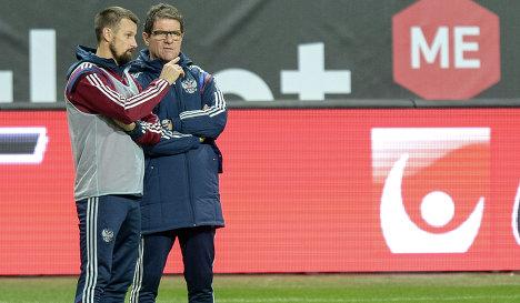 Дзюба и Кокорин могут выйти в стартовом составе России в матче со Швецией