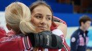 Игроки сборной команды Россия-1 Александра Саитова и Анна Сидорова