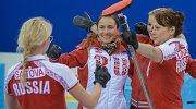 Игроки сборной команды Россия-1 Екатерина Галкина, Маргарита Фомина и Анна Сидорова (справа налево)