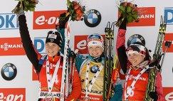 Анаис Бескон, Кайса Мякяряйнен и Надежда Скардино (слева направо)