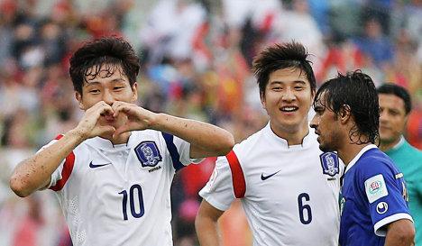 Футболисты сборной южной кореи нам