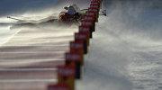 Биатлонистки на огневом рубеже эстафеты на шестом этапе Кубка мира по биатлону 2014/15 в итальянской Антхольц-Антерсельве