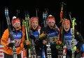 Немецкие биатлонистки Франциска Хильдебранд, Франциска Пройс, Ванесса Хинц, Лаура Дальмайер