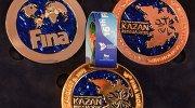 Презентация медалей XVI чемпионата мира по водным видам спорта в Казани