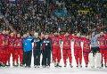 Игроки и тренерский состав сборной России по хоккею с мячом