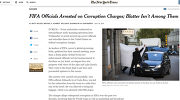 Скриншот страницы сайта New York Times